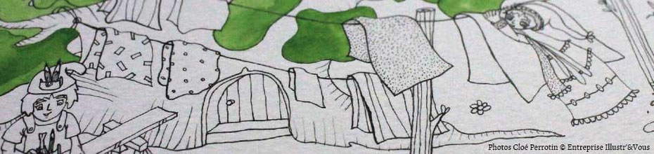 Wip d'une illustration de Cloé Perrotin pour le livre Zip à la fête du printemps chez BENJULICE Éditions, sur le BLOG : la Bulle Ludique Originale Gratuite