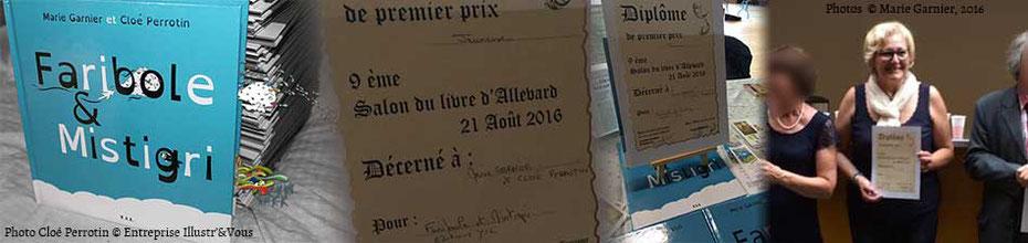 L'illustratrice Cloé Perrotin, l'auteur Marie Garnier et l'éditeur YIL Edition ont la joie de vous annoncer le 1er prix jeunesse au Salon du Livre d'Allevard