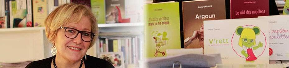 L'auteur Marie Garnier et ses livres en 2015, sur le BLOG : la Bulle Ludique Originale Gratuite