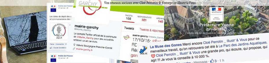 Vos réseaux sociaux avec Cloé Perrotin via l'entreprise Illustr'&Vous dans la Nièvre en Bourgogne-Franche-Comté