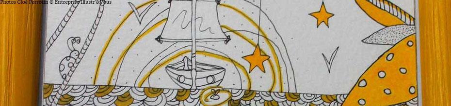 """Détail d'une illustration de Cloé Perrotin If Association en faveur de """"Rêves d'enfants"""", sur le BLOG : la Bulle Ludique Originale Gratuite"""