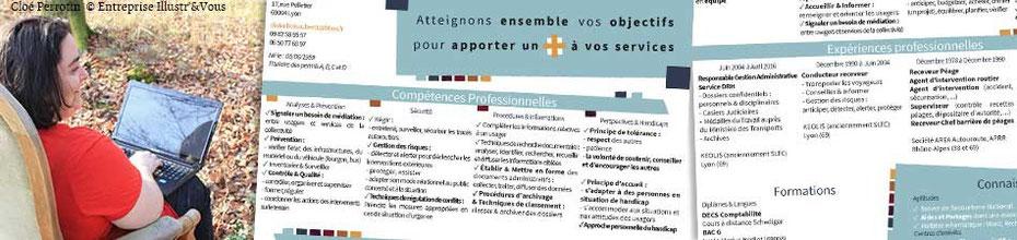 Annonce de la réalisation du CV de Didier Boisaubert par la graphiste Cloé Perrotin en Mars 2016