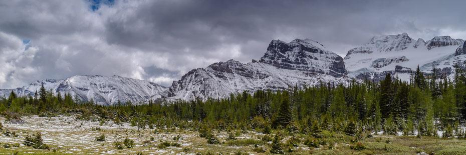 Wintereinbruch Mitte Juni im Larch Valley