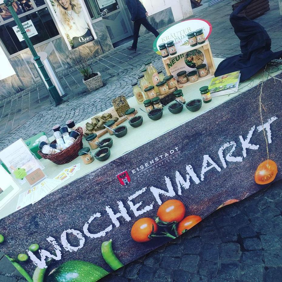 Wochenmarkt in Eisenstadt - MalaHex vor Ort