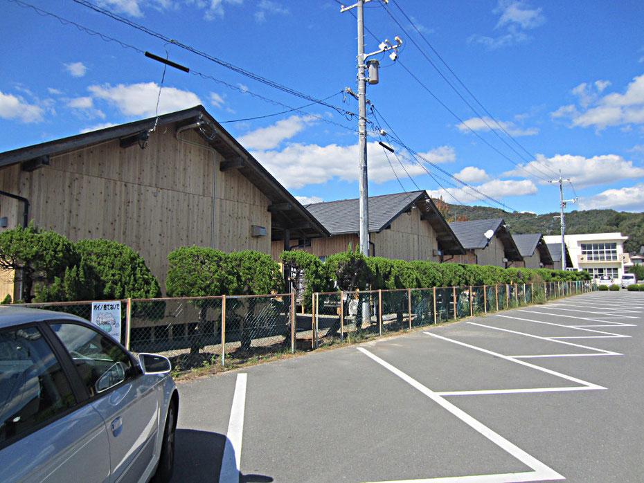 福島県から移築した総社の木造仮設住宅