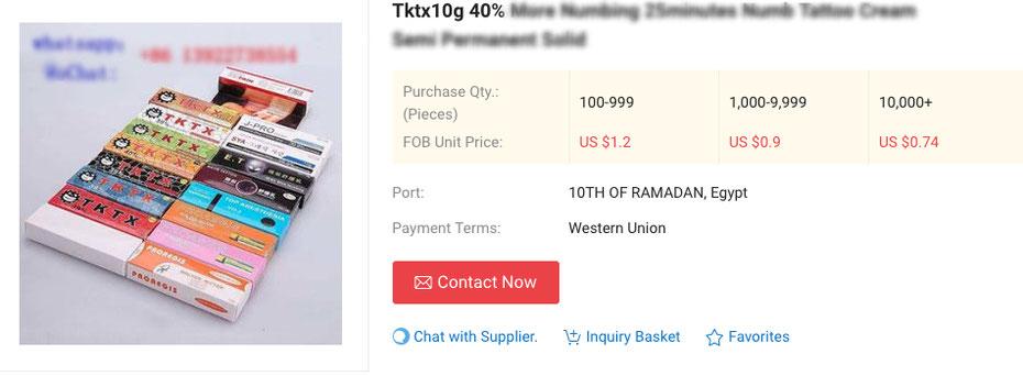 TKTX Numbing Hersteller