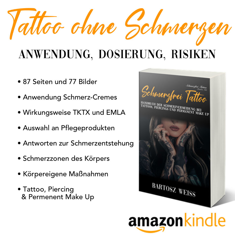 Handbuch  Tattoos, Piercings und Permanent Make up. TKTX, EMLA Anwendung Risiko