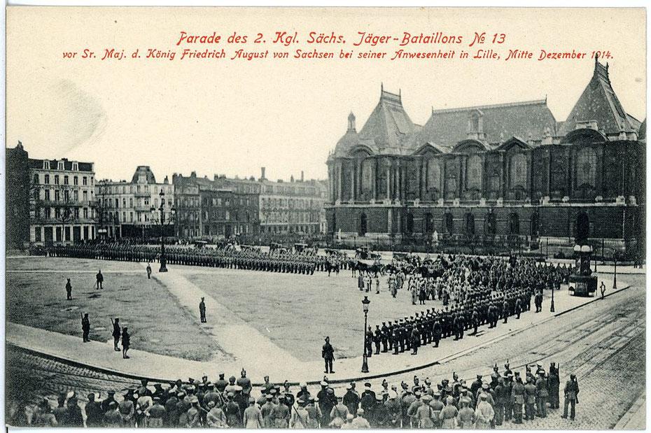 Parade à Lille en décembre 1914. Source: Wikipedia, CCO