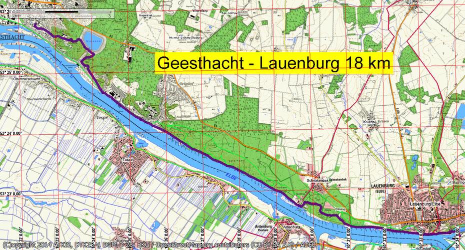 Wandern von Geesthacht über das Pumpspeicherwerk, vorbei am KKW Krümmel. Die Mitglieder des Wandertreffs waren hautnah  auf den Spuren der Biber, die an der Elbe Burgen errichten.