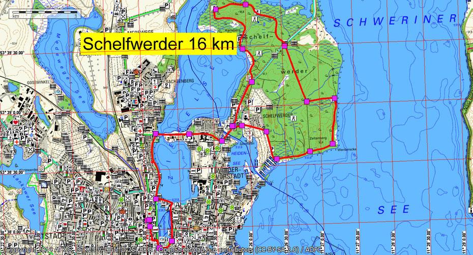 Wandern um 3 Seen bei Schwerin durch Mitglieder des Wandertreff Rostock