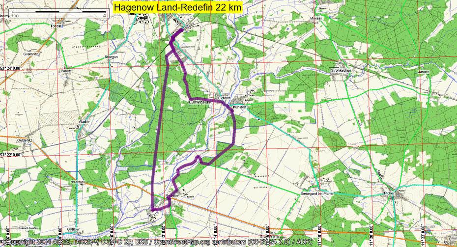 Wandern durch Mitglieder des Wandertreff Rostock zum Landgestüt Redefin.