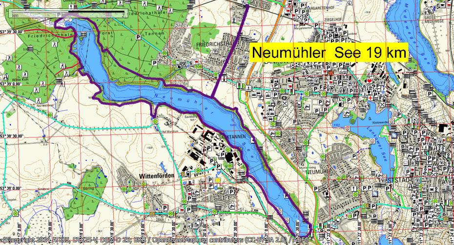 Wandern um den Neumühler See bei Schwerin durch Mitglieder des Wandertreff Rostock
