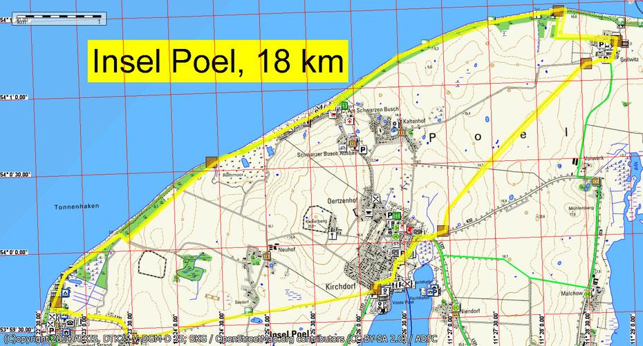 Wandern durch Mitglieder des Wandertreff Rostock um die Insel Poel.