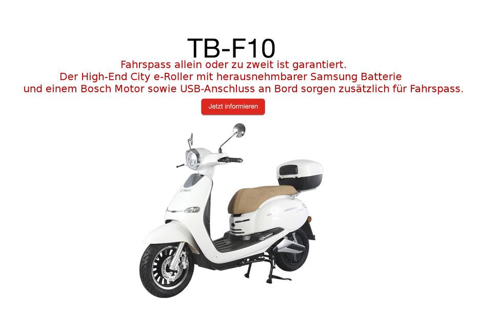 Fahrspass Garantie E-Roller City Roller Moped 2Rad Bosch Motor Samsung USB elektroroller elektro bike fahrrad erad ebike Angebot