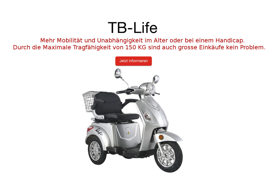 Tinbot seniorenroller heppenheim bergstrasse krankenroller elektro Mobilität Krankenkasse hilfsroller Sanitär händler