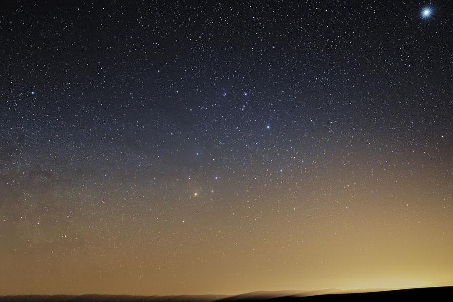 Sternbild Scorpion , oben rechts der Jupiter