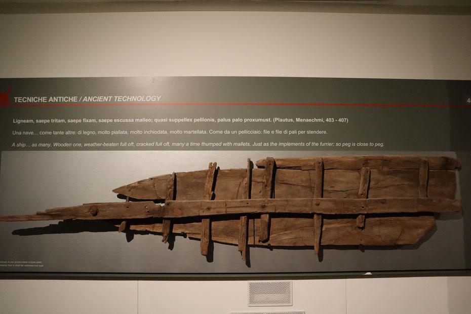 Tecniche antiche di costruzione - Museo delle Navi Antiche di Pisa