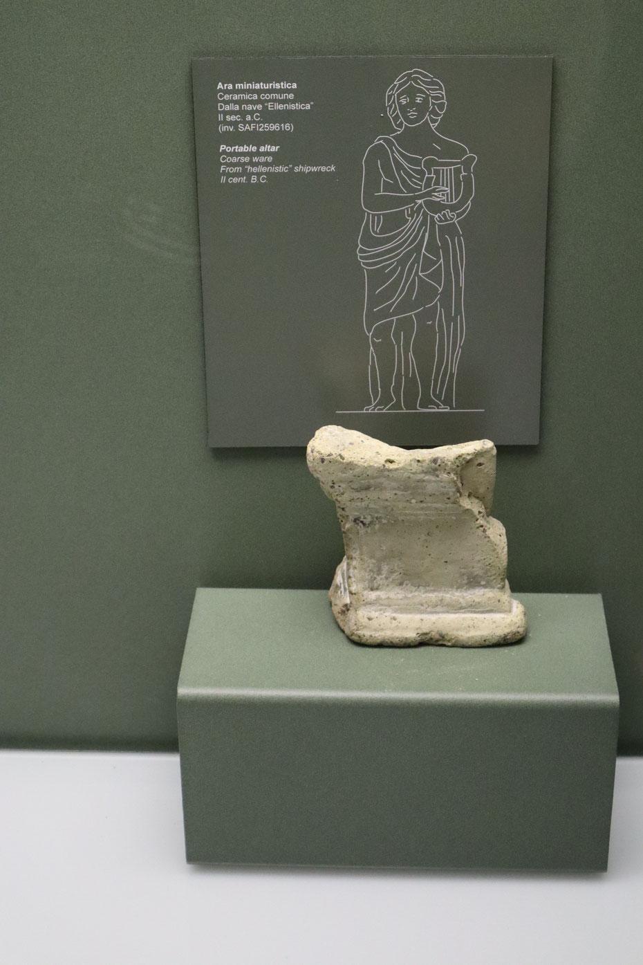Ara miniaturistica, II sec. a.C. - Museo delle Navi Antiche di Pisa