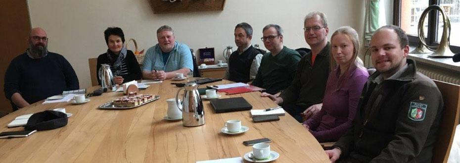 klein aber effektiv: der Teilnehmerkreis des Treffens vom 31.01.2019 © Marion Fuchs