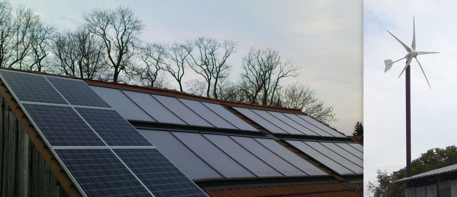 Regenerative Energien Energieerzeugung Photovoltaikanlage Solaranlage Aussteiger