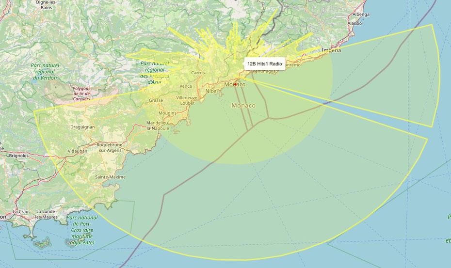 Couverture Hits 1 Radio sur la Côte d'Azur