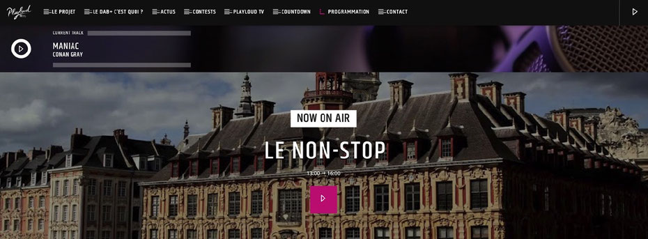Playloud.fr, site internet, Playloud.be