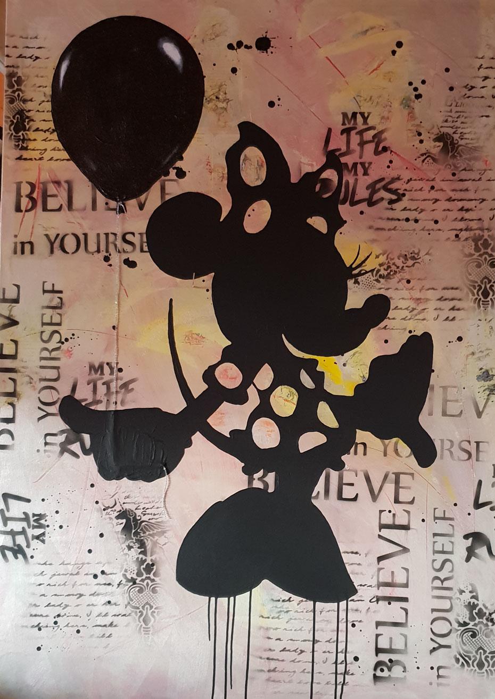 Leinwand 100x140cm Collage, Acryl, Mischtechnik