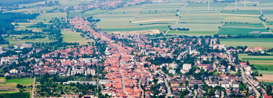 Bild: Verbandsgemeinde Kandel | Kandel von oben