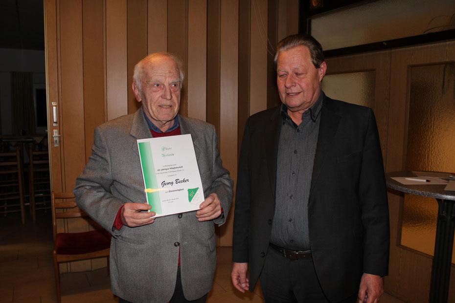 von links: Georg Becker, Harald Gries, 1. Vorsitzender