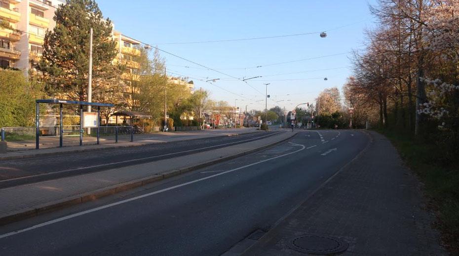 Leergefegte Straßen sind dieser Tage keine Seltenheit.