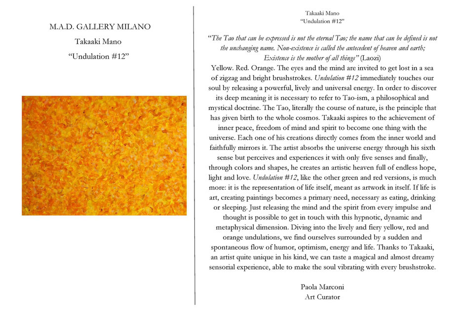 M.A.D. GALLERY MILANO, Paola Marconi (Art Curator)