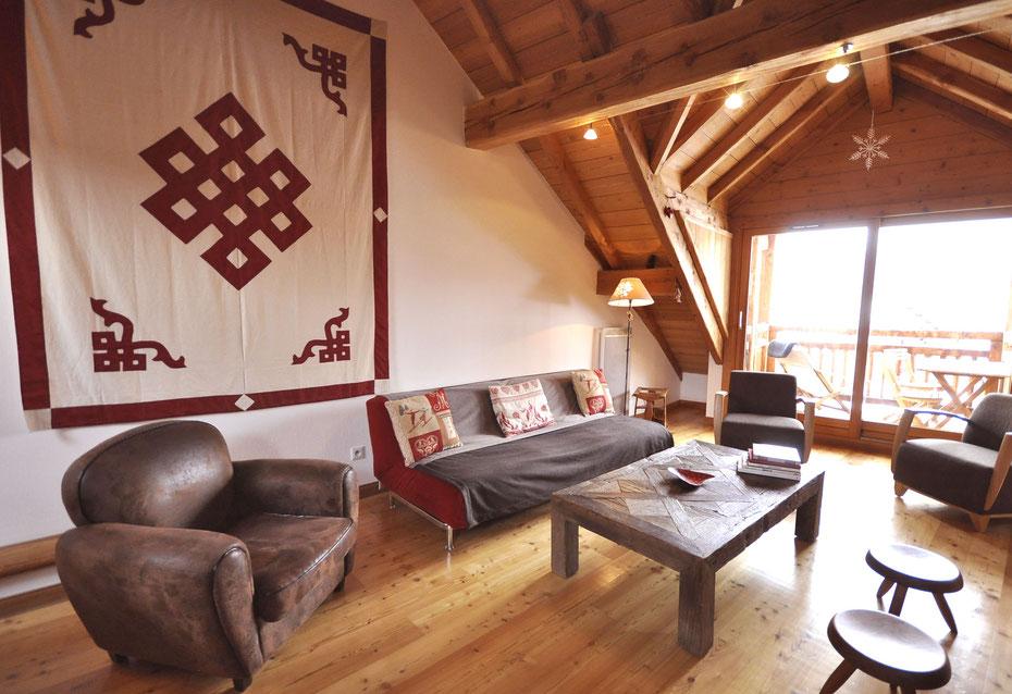 Appartement-chalet pour 10-12 personnes à Serre Chevalier.