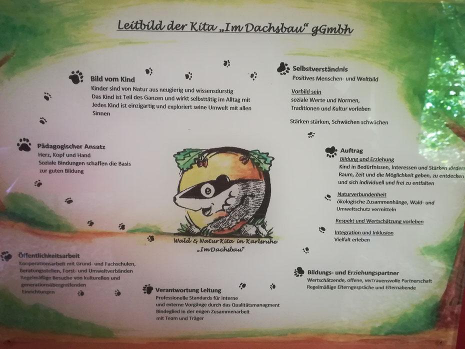 """Leitbild Waldkindergarten """"Im Dachsbau"""" Kalrsruhe-Durlach"""