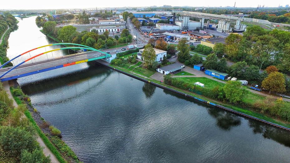 Unsere Vereinsanlage am Rhein-Herne-Kanal