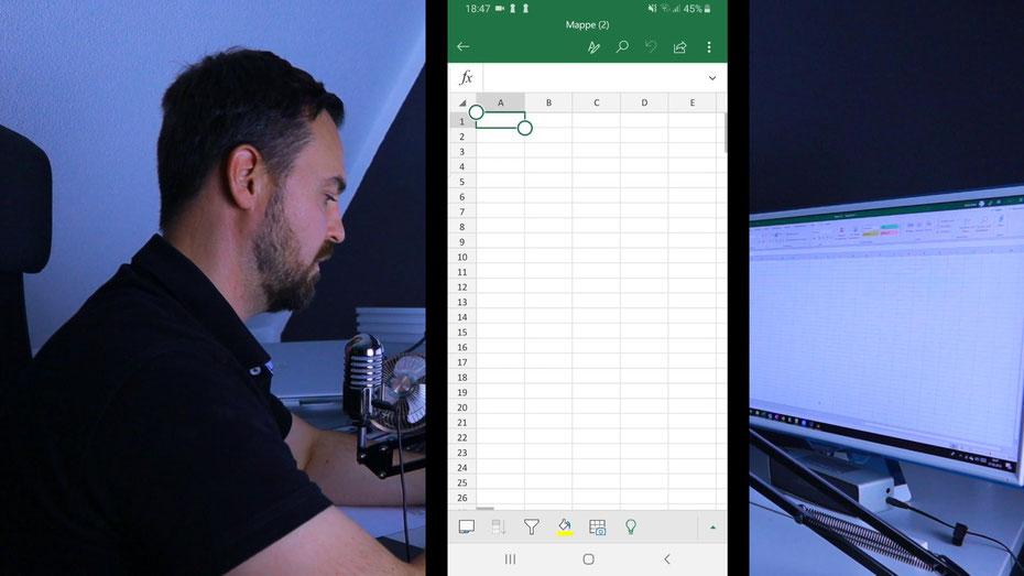 Daten übertragen von Papier nach Excel mit Excel App