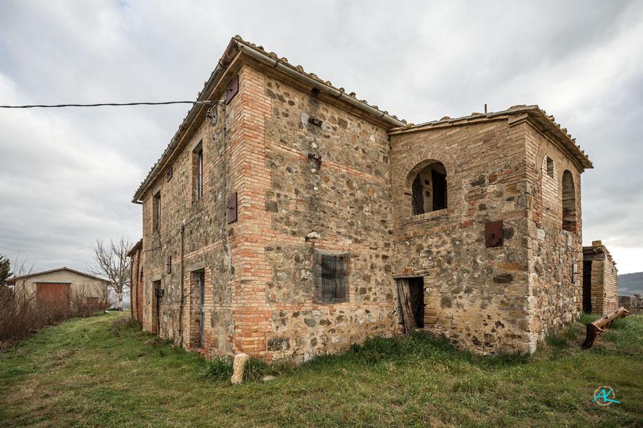Podere Cancelli, Haupthaus  von Südwesten