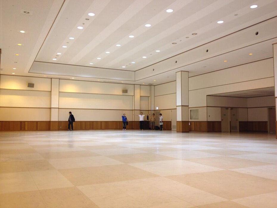 会場の広さはこんな感じです