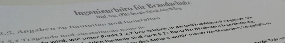 Brandschutzkonzept Berlin Textauszug