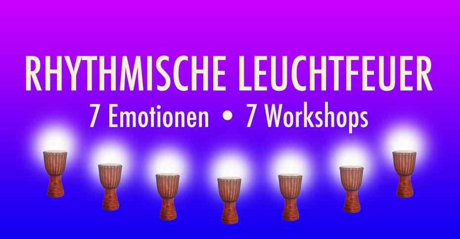 Rhythmische Leuchtfeuer • 7 Emotionen 7 Workshop • Trommelschule Yngo Gutmann • 2020