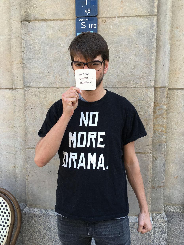 "Matthias: ""No more drama."""