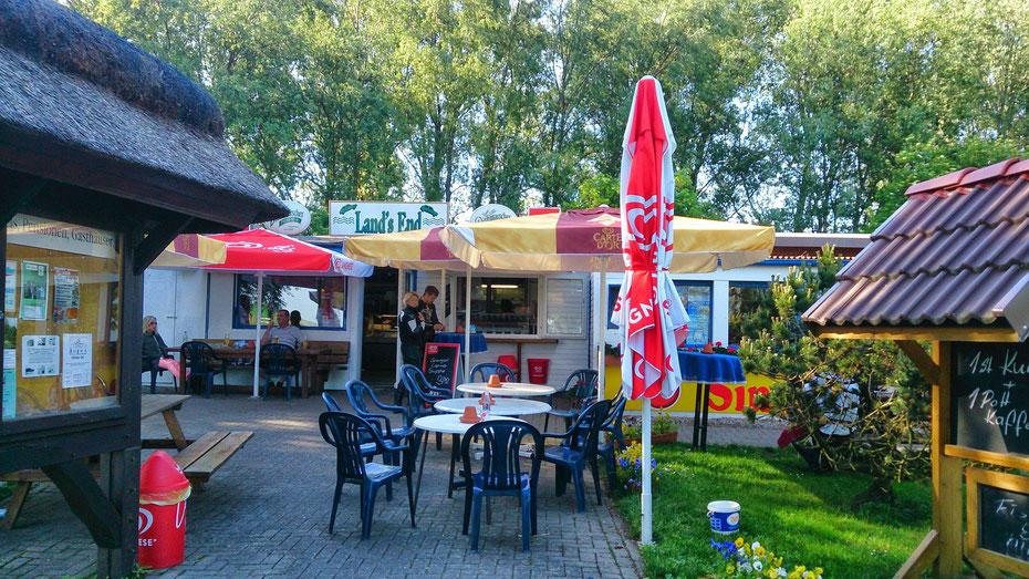 """~ Bild: Das """"Land's End"""" ☺ am Elbe-Fährbetrieb Wischhafen (Niedersachsen) - Glückstadt (Schleswig-Holstein) ~ ☺☼☺"""