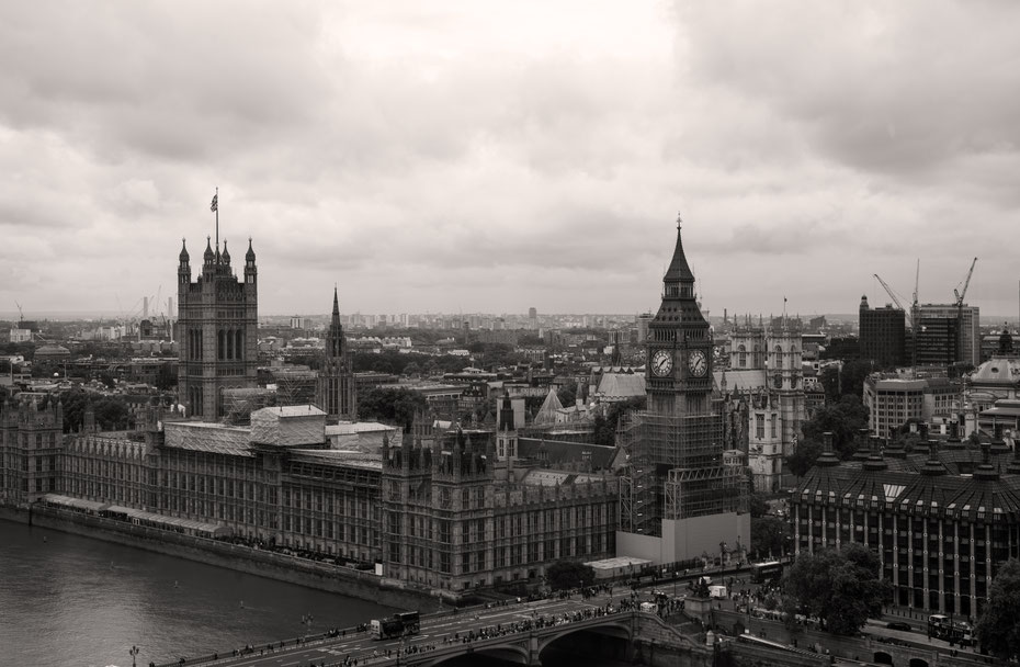 Oder man ändert die Perspektive. Wie hier aus dem London Eye (bei booking.com gibt es ab und zu Gutscheine).
