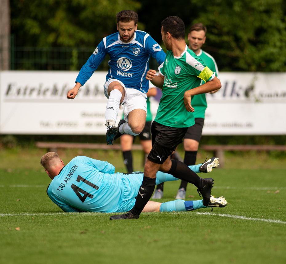 Im Eröffnungsspiel trotzte die TSG Ailingen dem Gastgeber ein leistungsgerechtes 1:1 Unentschieden ab.