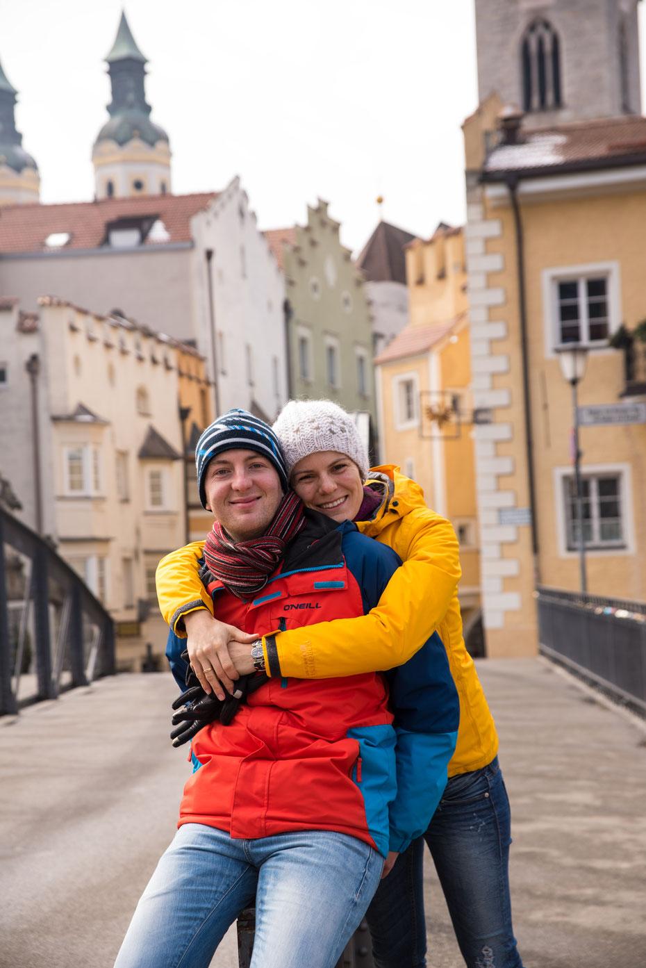 Brigitte und Jan - so ganz spontan zwischendurch beim Stadtbummel in Brixen entstand dieses Portrait. Wie schon bei der Hochzeit der beiden war es mal wieder ein Kinderspiel ein paar schöne Bilder auf die Speicherkarte zu bringen...