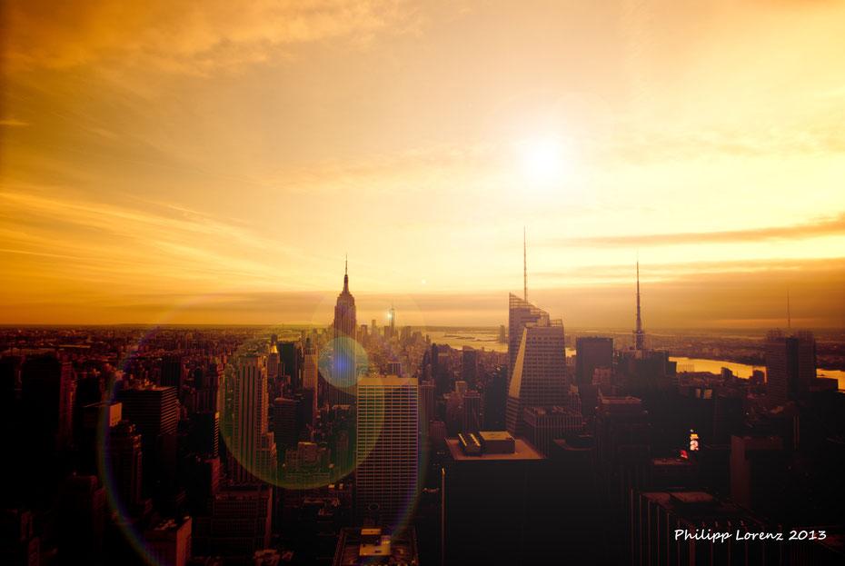 Auch von weiter oben (Top of the Rocks - Rockefeller Center) hat man einen ganz netten Ausblick auf Manhattan ;-)
