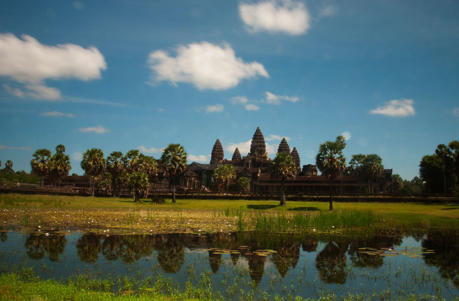 Ein Postkartenmotiv aus Angkor Wat.