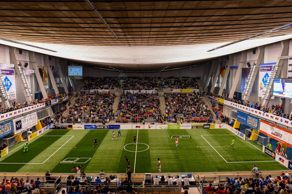 Die ZF Arena in Friedrichshafen war am Sonntag zu den Finalspielen mit 4.000 Fans ausverkauft!