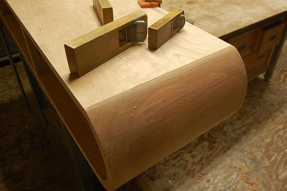 そら豆センターテーブルに合わせて作った特注テレビボード(高崎市・I様邸)加工
