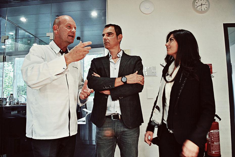Chef Johan Breedijk ART DECO HOTEL MONTANA mit Spitzenerzeuger Giorgio Franci und evoos Sensory Consultant Sophia Amariotaki Streich