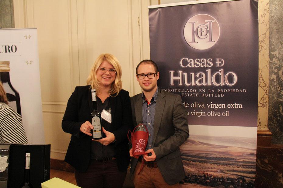 Viola Paduch - Ehefrau von Ignacio Segura - von Casas de Hualdo mit Silvan Brun von evoo ag - weltbestes olivenöl, bestes olivenöl der welt, casas de hualdo reserva de familia